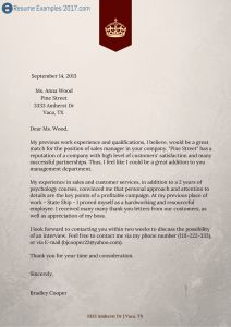 good sample cover letters