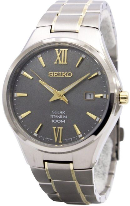 Seiko Men's Solar Titanium Watch SNE409P1 - In Stock, Free Next Day Delivery, Our Price: £184.99, Buy Online Now