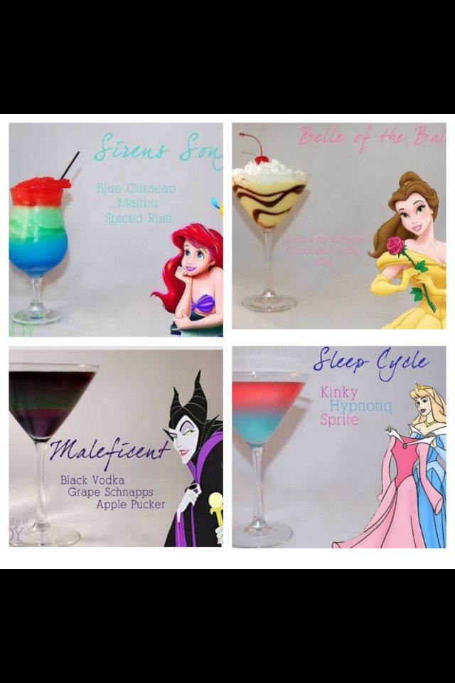 Disney themed drinks