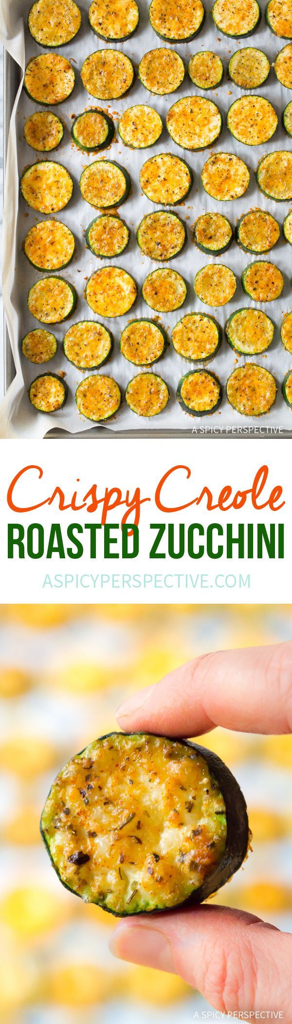 Crispy Creole Roasted Zucchini Recipe  #lowcarb  via @spicyperspectiv