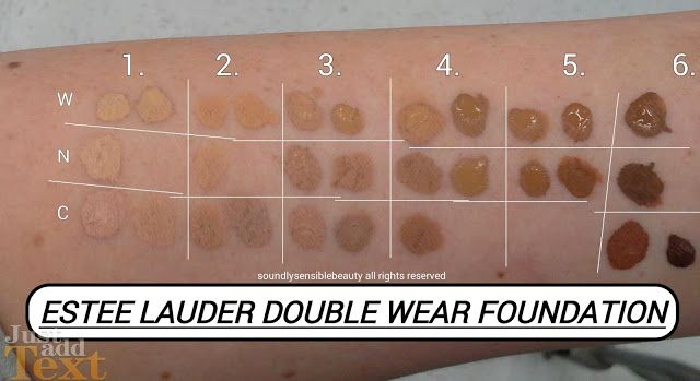 Estee Lauder Double Wear Foundation; (Stay in Place Makeup):