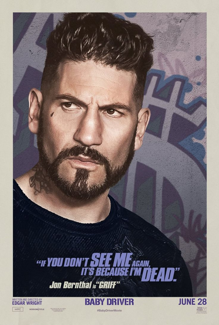 Jon bernthal as griff in the official character poster for baby driver