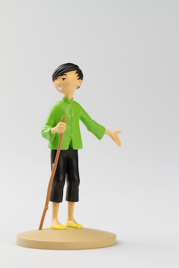 TINTIN FIGURINE NUMERO 8 COLLECTION disponible en France et en Belgique. Référence de la figurine: Le Lotus bleu