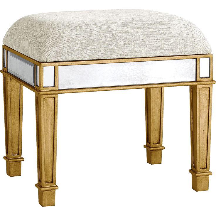 Hayworth Vanity Bench Gold