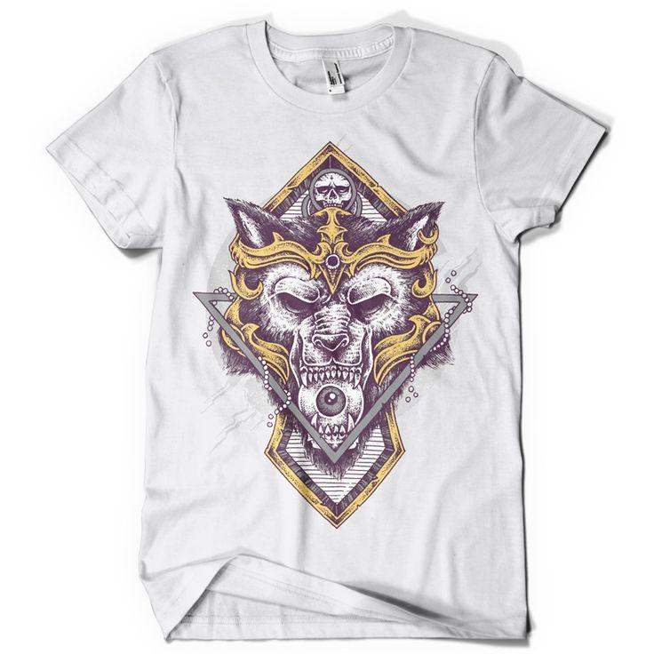 Wolf warrior T-shirt clip art