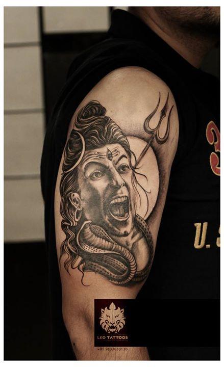 #Angry #Shiva #customtattoo #Hindugoddess #trishul # ...