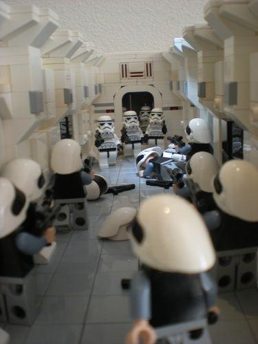 Episode IV - Tantive takeover Diorama: A LEGO® creation by markus 1984 : MOCpages.com