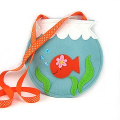 fish bowl felt bag