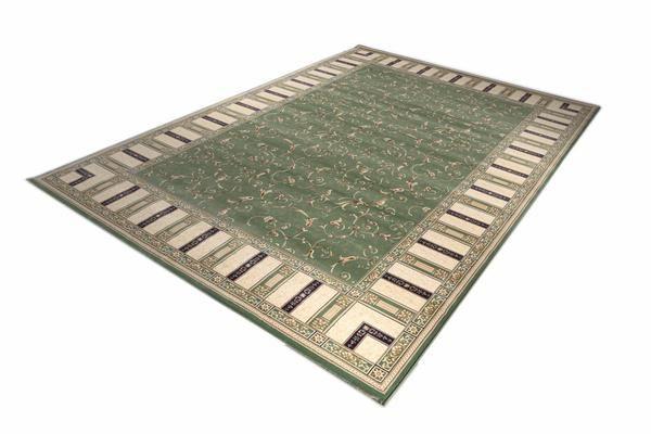 Green Border Design Turkish Rug Size: 200 x 290cm