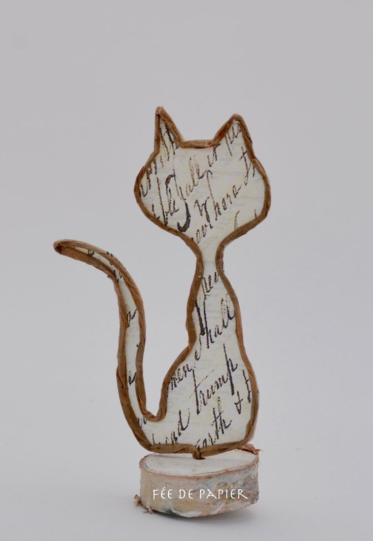 Fée de papier - Chat - Technique by Epistlyle