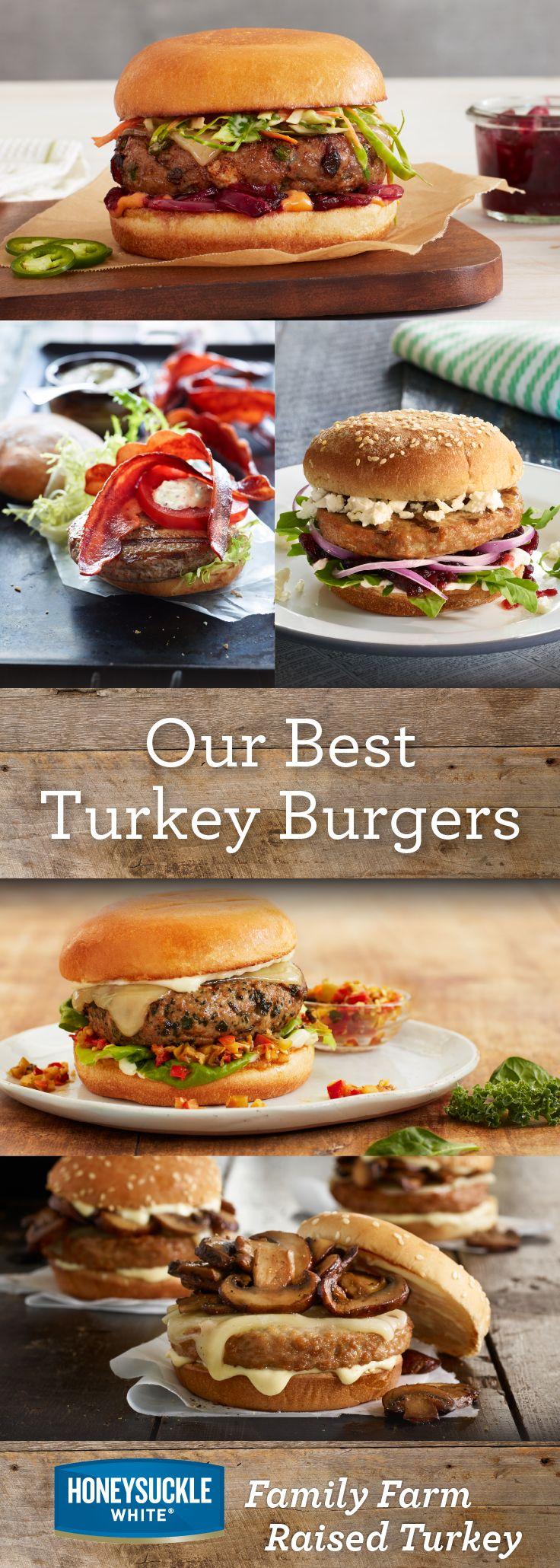 Our Best Turkey Burgers - Honeysuckle White