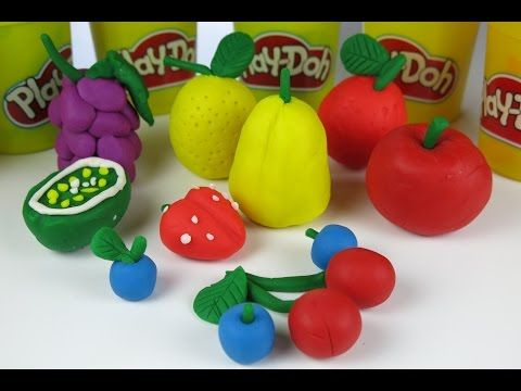 DIY Beautiful Play Doh Fruits Kiwi Grapes Lemon Strawberries Apple
