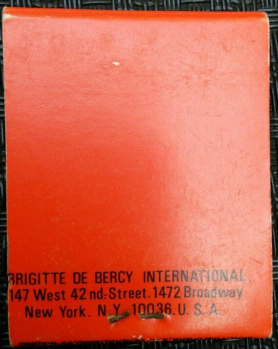BRIGITTE DE BERCY INTERNA  147 West 42 nd-Street.1472 Broadway  New York. Na 14036.