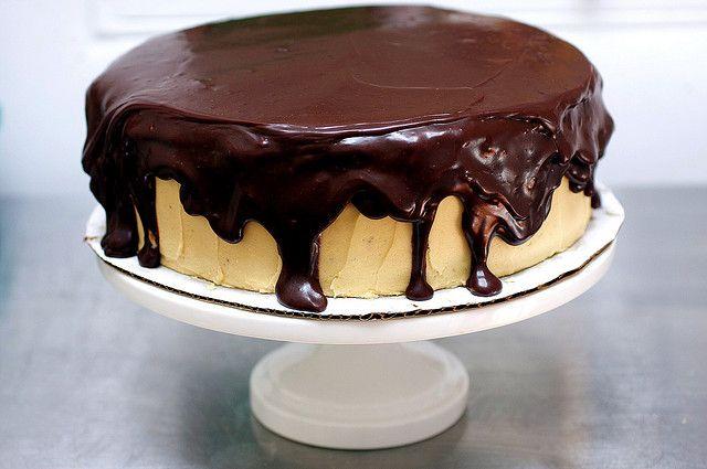 chocolate peanut butter birthday cake by smitten, via Flickr