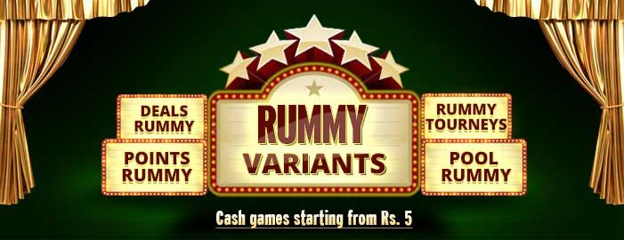 Play Rummy Games Online with 9 Indian Rummy Variants