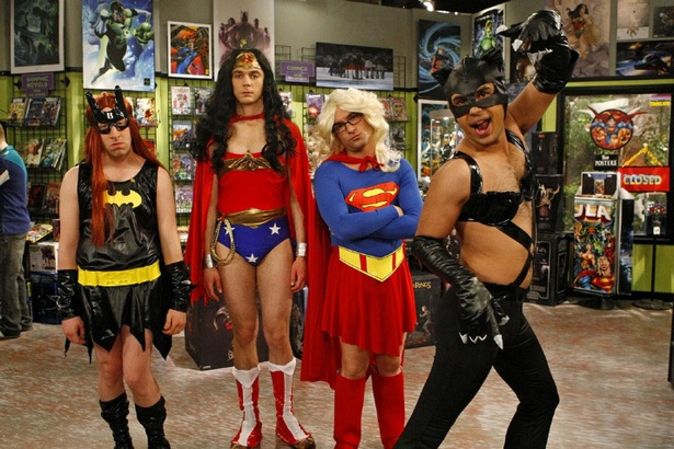 The gentlemen of The Big Bang Theory getting in touch with their feminine alter egos.