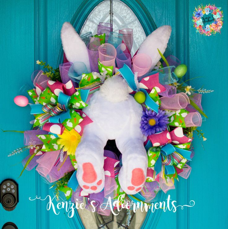 A personal favorite from my Etsy shop https://www.etsy.com/listing/501977230/easter-wreath-deco-mesh-spring-wreath