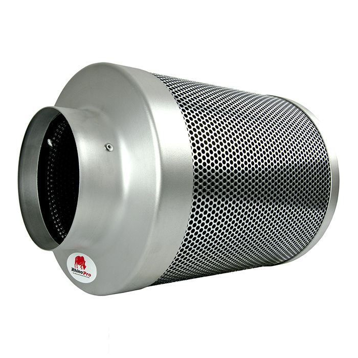 There are two types of 6 inch carbon filter available in our Rhino Pro range, one designed for use with low-power fans and one designed for use with high-power fans. Make sure you carefully match your fan and filter as failure to do so will result in less effective odour control and can dramatically reduce the lifespan of each component.