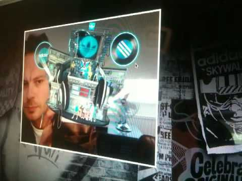 Augmented Reality Adidas Originals: DJ game with shoe as controller