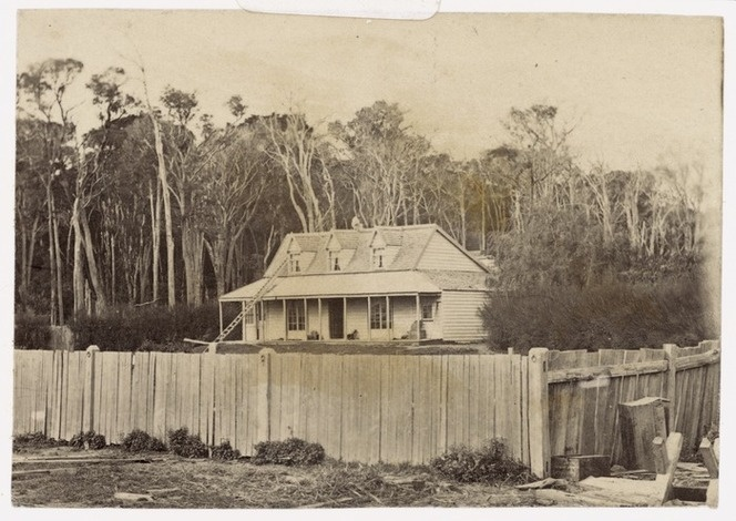 Creator unknown :Photograph of Dr Henry Thomas Spratt's house in Greytown, Wairarapa