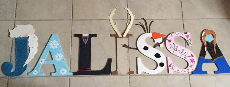 A personal favorite from my Etsy shop https://www.etsy.com/listing/261530389/frozen-personalized-name-letters