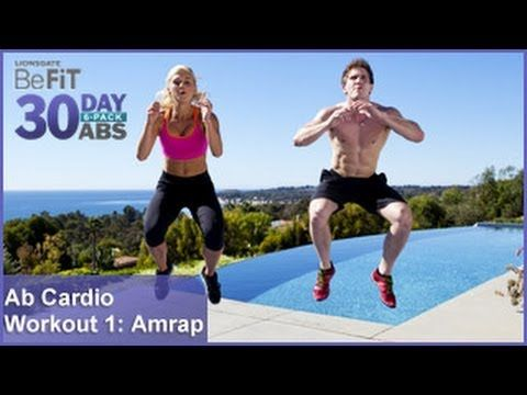 29JUL13 Ab Cardio Workout 1: Amrap | 30 DAY 6 PACK ABS. This was entertaining. Girls rule...lol. Great cardio! Just hard to keep up cuz the two host don't count out loud during the routine.  But def a calorie torch-er!.