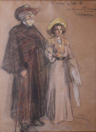 P.S Krøyer: Soffi og Holger Drachmann 1903 | Drachmanns Hus | Skagens Kunstmuseer | Art Museums of Skagen