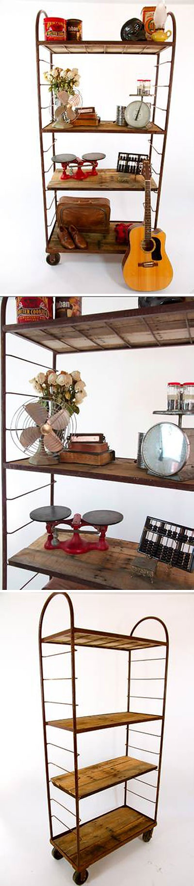 Industrial Bakers Rack Shelving, 7'W x 3'H :: $400 | Hollywood, LA Craigslist :: Now if I could only find a bakers rack w/ adjustable shelving like this one!