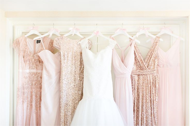 Glamorous Blush + Champagne Gowns | McCormick Ranch Golf Club | Amy and Jordan Photography
