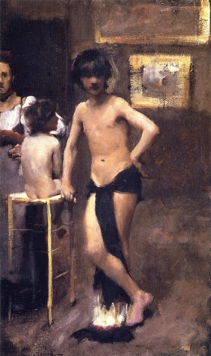 John Singer Sargent 1878-79c Study of Three Figures oil on canvas Colby College of Art ME
