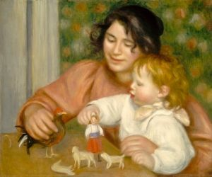 Child with Toys; Gabrielle and the Artist's Son - Pierre Auguste Renoir - The Athenaeum
