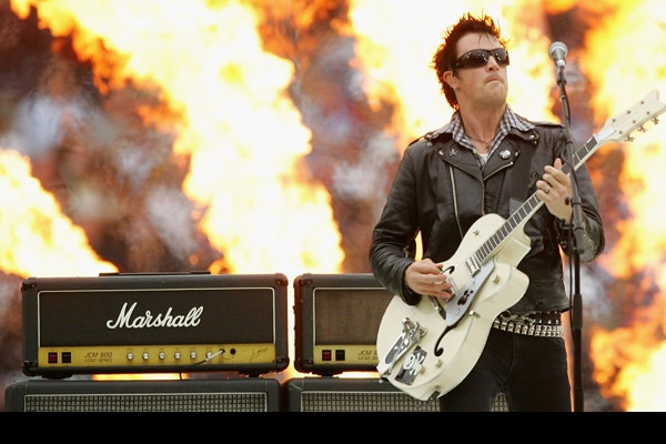 The Living End's Chris Cheney at the 2008 NRL Grand Final.