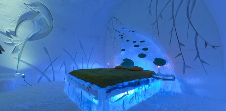 I want to stay at an ice hotel.