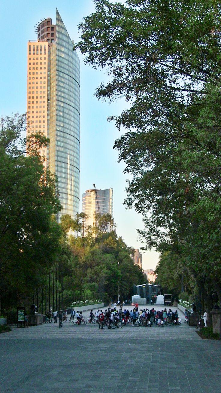 Vista desde el Bosque de Chapultepec...