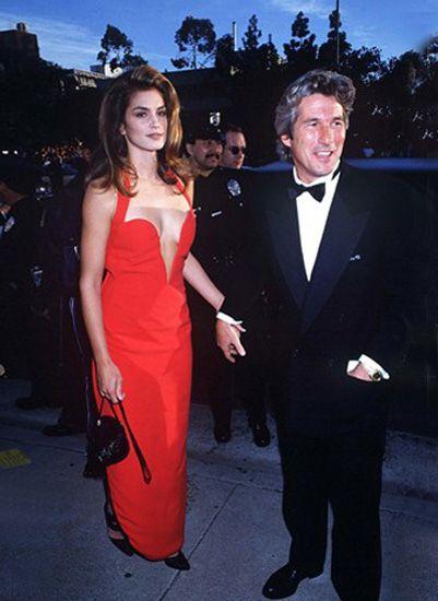 Синди Кроуфорд и Ричард Гир на церемонии Оскар (1991 год)