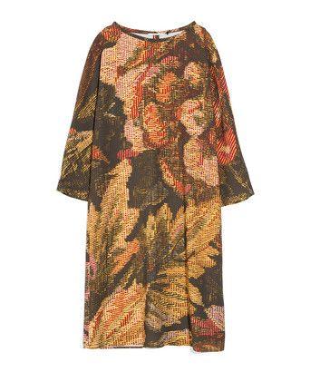 Jurk crespo shift 3/4 - <ul><li>Soepelvallende jurk</li><li>Afhangende mouw</li><li>Boothals</li><li>Gemaakt in ons atelier in Turkije</li></ul>