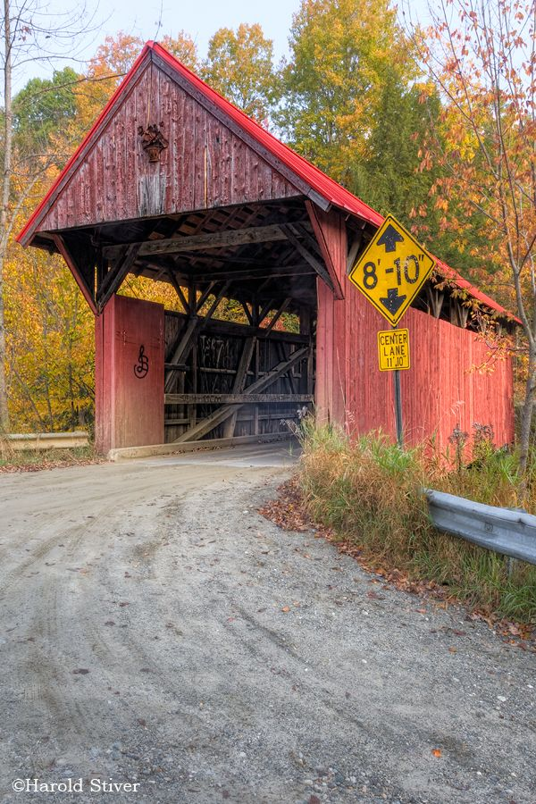 Red Covered Bridge over Sterling Brook, VT.  The Red Covered Bridge is a 66 foot long Kingpost and Queenpost Truss. It carries Bedell Hill Road over the Sterling Brook in Sterling. This bridge was built in about 1896.