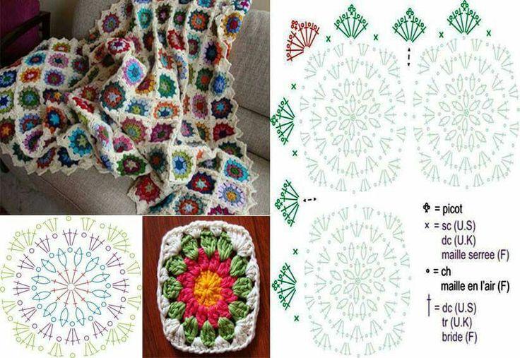 118 best mantas em crochet e tricot images on Pinterest