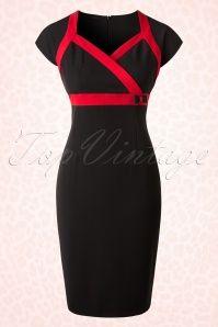 Hulahup Black Red Striped Pencil Dress 17493 20151214 0002W