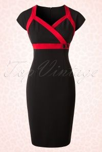 Hulahup Black Red Striped Pencil Dress 17493 20151214 0002W