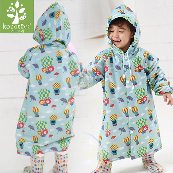 Nice 2~6 years old baby Kids Hooded Jacket children Girl boy Rain coat Poncho Raincoat Cover cartoon Balloon Print Tour Rainwear - $18.9 - Buy it Now!