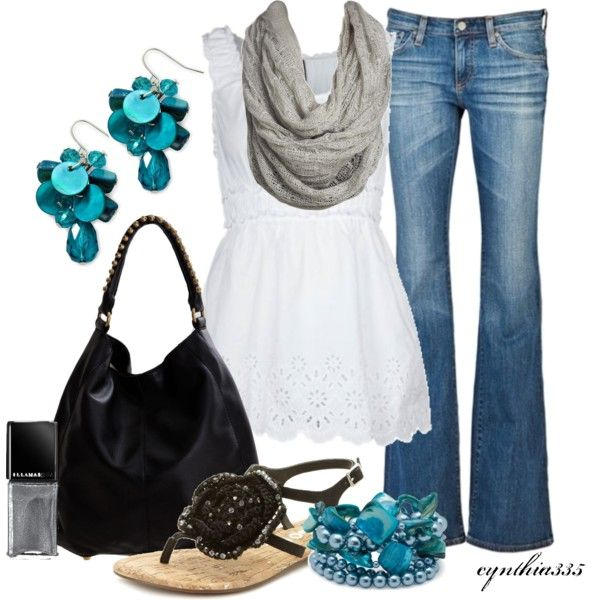 Chic and classy--love the teal accents:): Dreams Closet, Style, Shirts, Cute Outfits, Jeans, Fashionista Trends, Summer Outfits, Casual Outfits, Spring Outfits