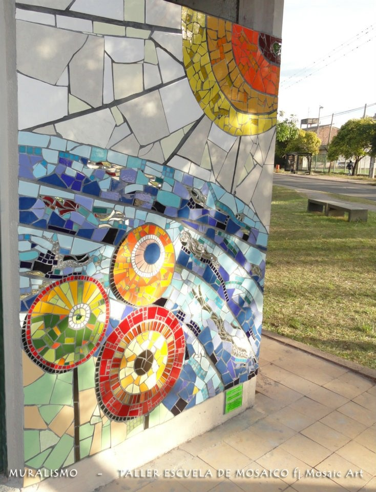 Re-thinking my city: what marvellous thing if some old walls were update and so decorated! - Mosaic wall by Fj mosaic art
