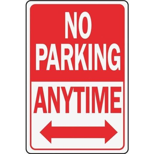 12X18 No Parking Sign HW 1 Unit  Each  Silver aluminum. The 25  best No parking signs ideas on Pinterest   Funny road
