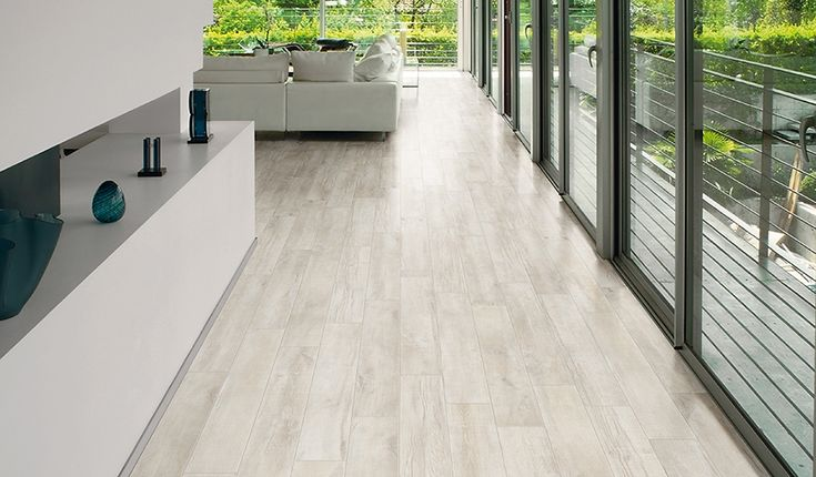 Passion 'Antique' wood-effect Porcelain floor and wall tiles. Natural finish. Available in 15x90cm planks. #innovative #interiordesign #woodeffect #white #antique #porcelain #tiles