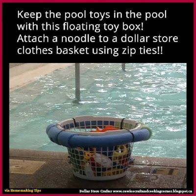 Dollar Store Crafter: Keep All The Kids Pool Toys Organized