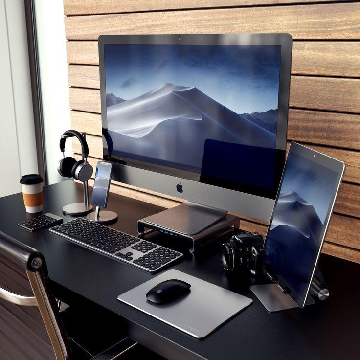 Best Office Desk Setup Modernoffice Bestofficedesk In 2020 Home Office Setup Modern Computer Desk Home Office Design
