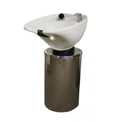 Montego pedestal backwash system with white bowl my for Shampoo bowls