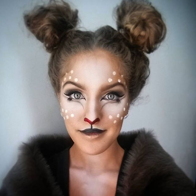 Pin for Later: Deer Makeup Halloween Costume Ideas You'll Want to Fawn Over Like a red nose —