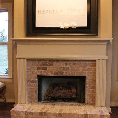 Birmingham home brick fireplace design ideas pictures remodel and decor home interiors - Brick fireplace surrounds ideas ...